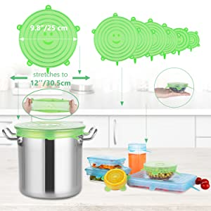 tapas de silicona reutilizables ecológicas