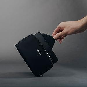 output folio wallet faraday wallet faraday bag wallet with straps