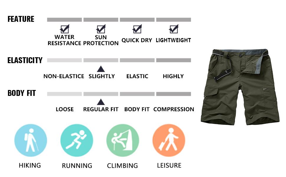 mens casual shorts,hiking shorts summer shorts for men,mens elastic waist shorts ,hiking shorts men