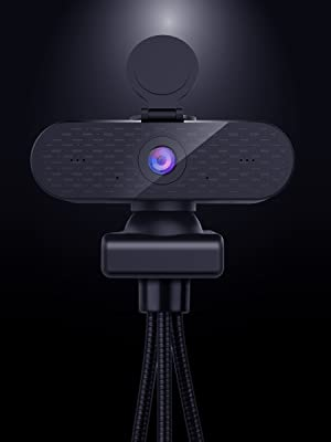 4K Laptop Webcam Zoom with Mics for TV XBOX ONE OBS Depstech Webcam' Backdrop Clip On Webcam Tripod