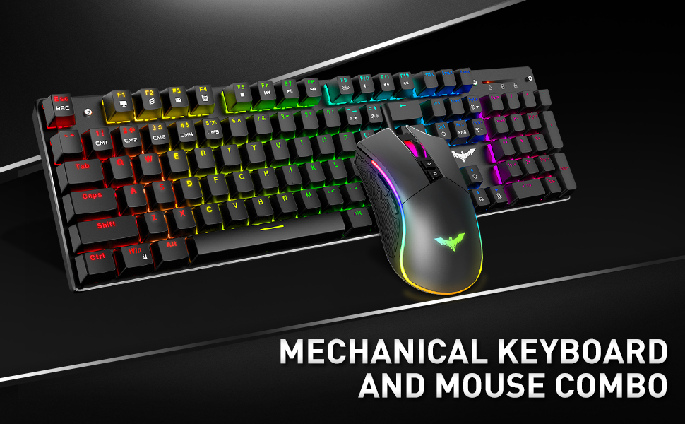 mechanical keyboard and mouse combo