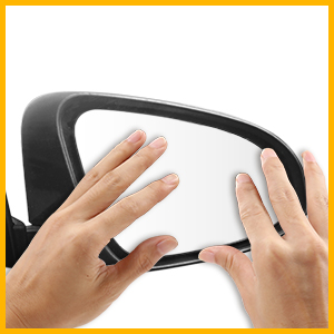 X AUTOHAUX Mirror Glass Heated with Backing Plate Driver Side Left Side Rear View Mirror Glass for Mercedes-Benz ML500