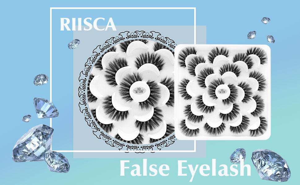 10 Pairs False Eyelashes 6D Mink Eyelashes Faux Fluffy Fake Eyelashes Handmade