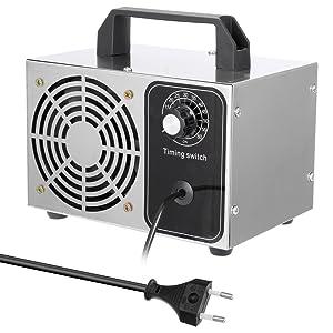 KKmoon 28g/h Generador de Ozono con Función de Temporización,Ozonizador con Interruptor de Tiempo,Purificador de Aire,Esterilizador,con Ventilador Interior: Amazon.es: Hogar