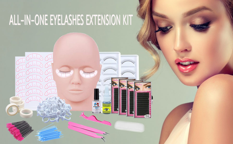 All-in-one eyelashes extension kit