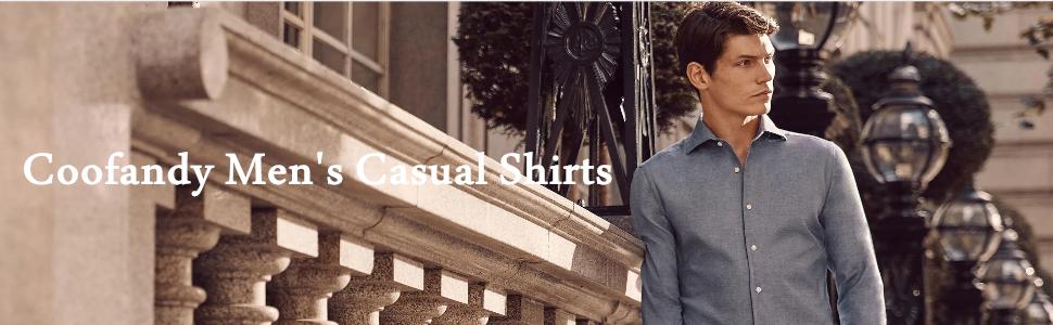 Men's Casual Linen Button Down Shirt Designer Chambray Plain Dress Shirt
