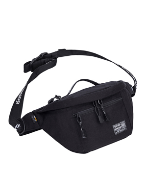 Rough Enough Crossbody Bags for Men Large Black Fanny Waist Pack for Hiking Climbing EDC Sling Bag