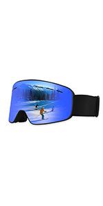 Lunettes de Ski,Snowboard OTG pour Homme/Femmes/Jeunesse/Adulte Anti-buée Jet Ski Masques Lunettes