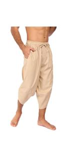 Men's Linen Capri Pants
