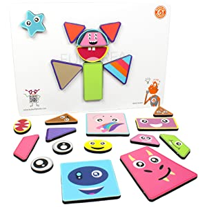 2in1 Magnetic Puzzles for Kids 3+ year old Fun Shapes Play Gift Learning Educational Toys Mix Match