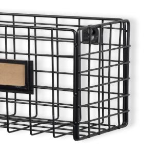wire basket metal black desk file holder home organizer fruit organizer mesh basket rustic