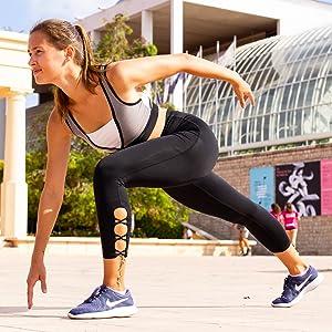 OUT & ABOUT Sena Yoga Pants for Women,High Waist, Tummy Control, Workout Pants, 4 Way Stretch Leggings