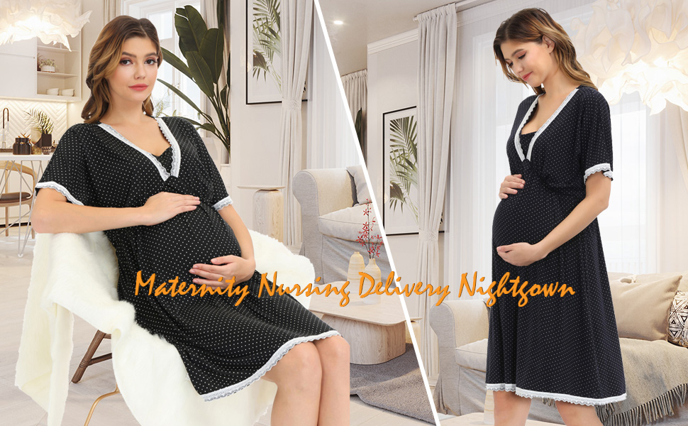 womens maternity nursing delivery nightgowns
