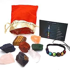 Chakra Bracelets for Women Men with Metaphysical Card