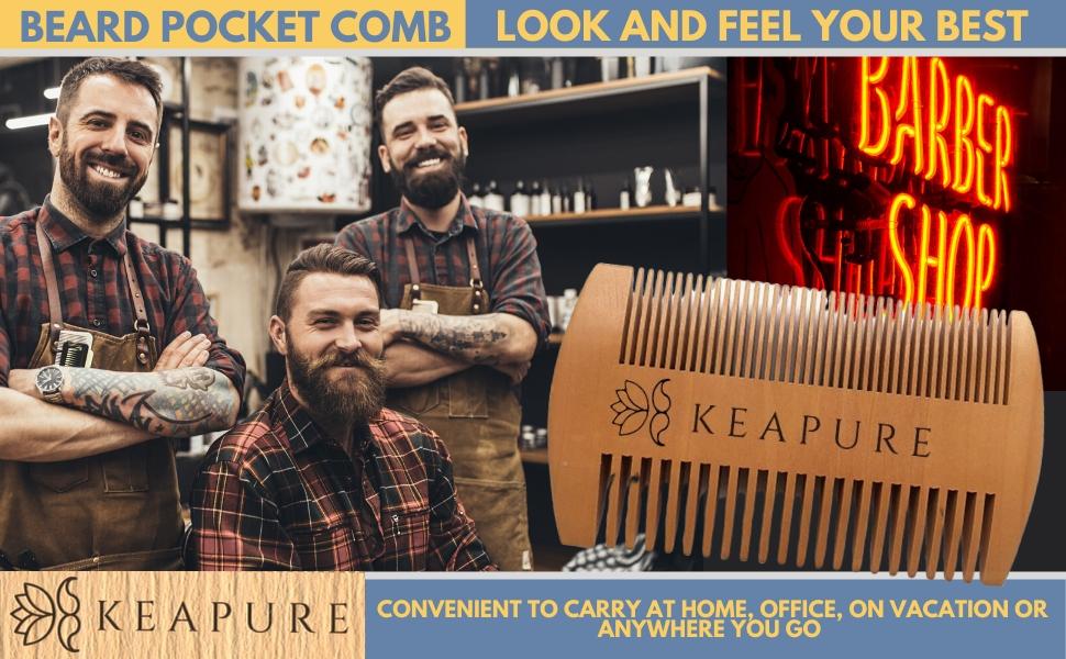 Pocket Travel Size Wood Beard Comb