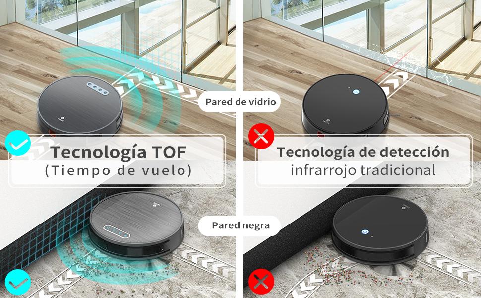Robot Aspirador 3 Horas de autonomía 4500MAH Robot Aspirador WiFi con succión 2000 Pa, aplicación doméstica Alexa/Google/Control Remoto Ideal para alfombras Cortas de Animales Lefant-M571: Amazon.es: Hogar