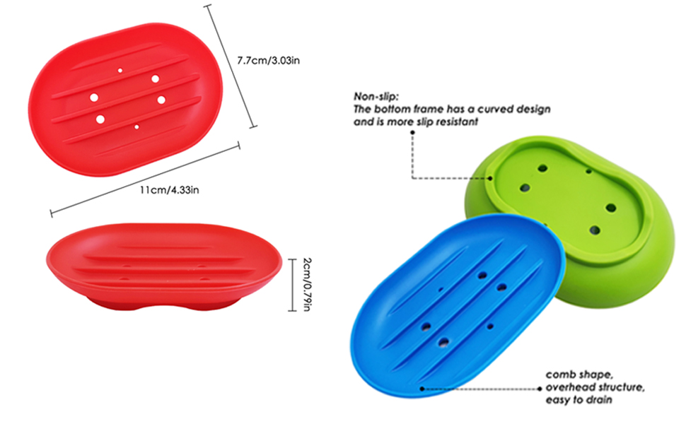 Silicone Soap Dishes