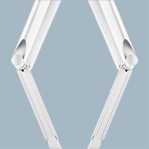 Telaio in acciaio a doppio braccio per impieghi gravosi