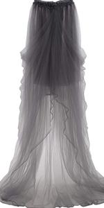grey tulle skirt