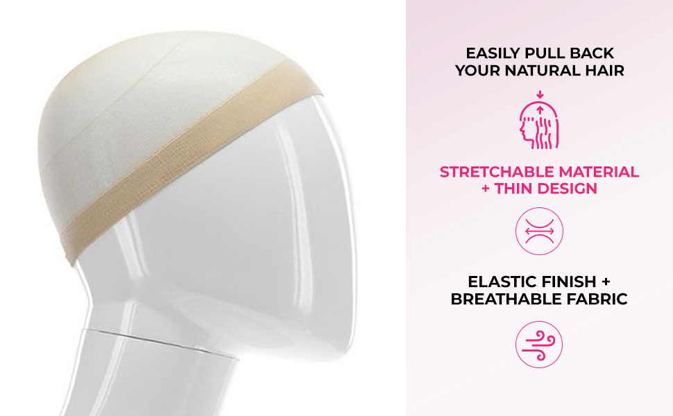 Easily Pull Back Your Natural Hair Stretchable Material Elastic Finish Breathable Fabric Thin Design