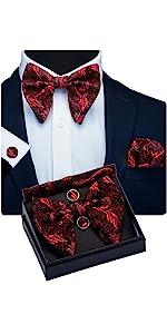 Floral Big Bow Tie