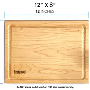 maple wood cutting board charcuterie walnut hardwood kitchen chopping block thick wooden butcher