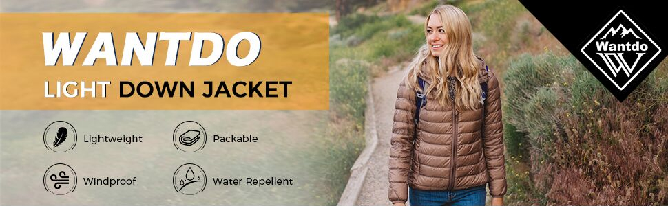 Wantdo Women's Packable Down Jacket