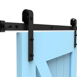 292CM/9.6FT Puerta de granero corredera estilo rústico puerta de ...