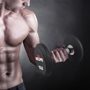round  end  dumbbell
