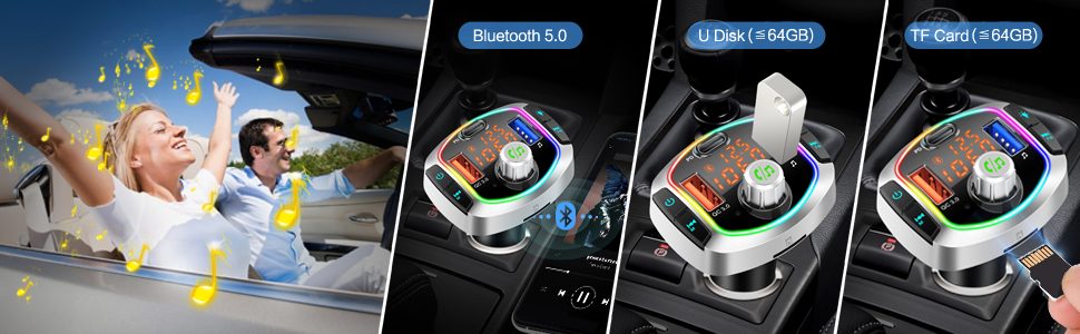 FM Broadcast Transmitter supports 3 Stereo Music Player Modes,you can choose to play your music