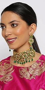 Enamel Choker Jewellery Set