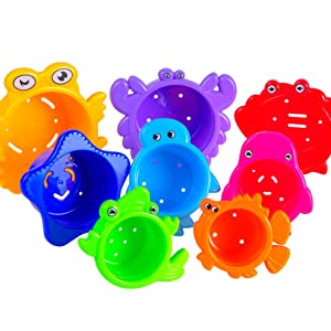 stacking cups extasticks sea animals colored cups kids water bathtub toys baby toys gift babies