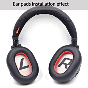Black ear pads