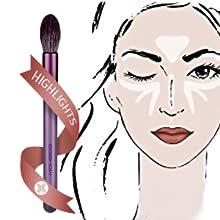 eyeliner brush thin blending brush eyebrow spoolie brush eye shadow brush angled eyebrow  eye brow