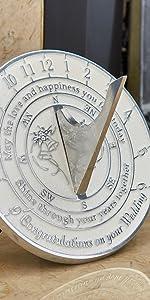 1st first wedding anniversary sundial gift