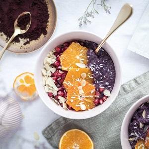 Use wild blueberry powder in your porridge