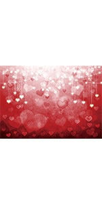 Bokeh Love Red Heart Photography Backdrop Day Photo Booths Props Mother Day