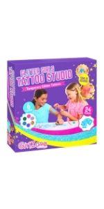 set tatuajes brillantes de purpurina para niñas unicornio manualidades regalos niñas 5 6 7 8 9 10 11