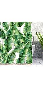 anana Leaf Bathroom Shower Curtain