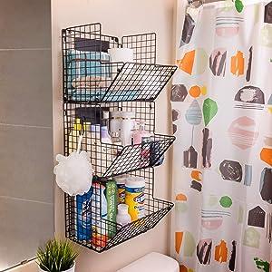 Iron Wire Baskets for Bathroom Storage
