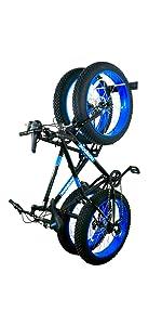 blat fat tire bike wall rack hanger hooks holder bicycle garage indoor storage vertical 2 two thick