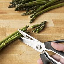 kitchen shears scissors kkitchen stainless meat heavy black apart sharp large rustproof chicken