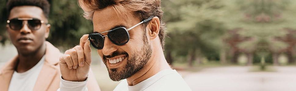 aviators mens acetate sunglasses metal frame lightweight comfortable gradient style mazzucchelli
