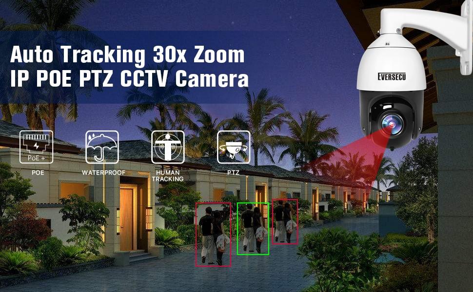 Human Tracking POE IP PTZ Camera