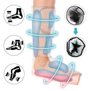 Air compression leg massage