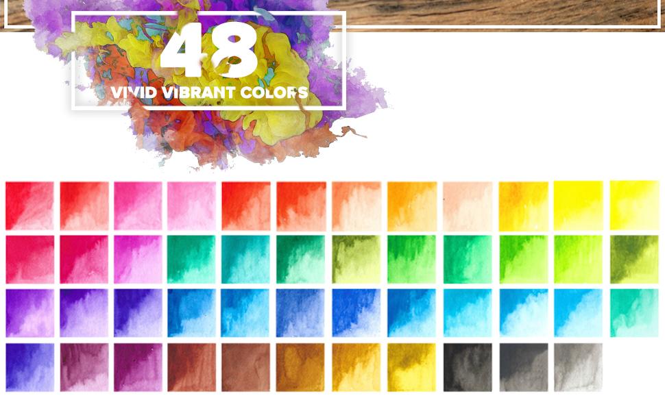 20 vibrant colors