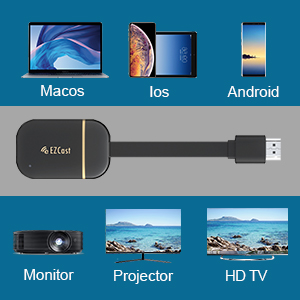 YEHUA Wireless WiFi Display Dongle HDMI 1080P WiFi Display Receiver Soporte Miracast Airplay DLNA para Chromecast / Android / Smartphone / PC / TV / Monitor / Proyector: Amazon.es: Electrónica