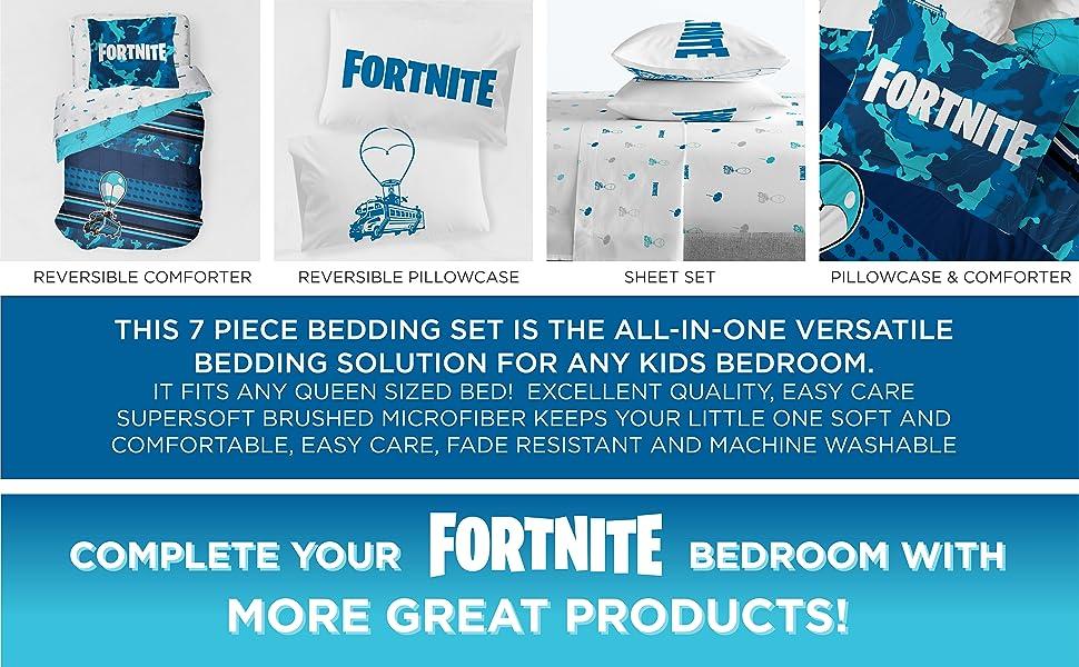 Fortnite, Sheet set, Bed Set