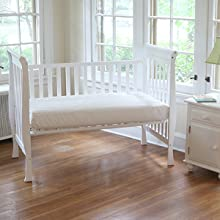 Mattress in crib in nursery