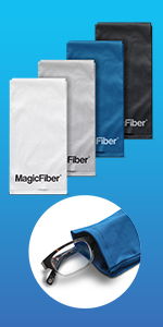 MagicFiber Eyeglass, Sunglasses, Cell Phone Cleaning Pouch